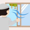 長野市内の空き家の通気・換気