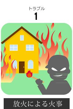 長野市内空き家への放火による火事