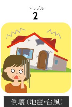 長野市内空き家の倒壊(地震・台風)